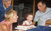 Billed-Besuch-Torte für Emma: 4 Besuche - 4 Kerzen