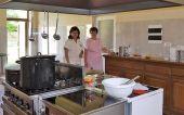 In der Küche der Sozialstation 2009
