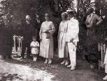 Hoher Besuch im Kastell am 8. Juli 1922
