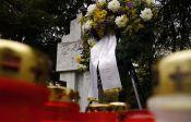 Wir gedenken unseren Toten, HOG Billed - steht auf dem Kranz