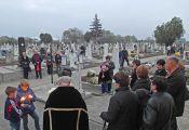 Totengedenkfeier bei milden Temperaturen und Windstille