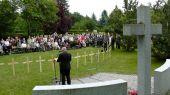 Während der Veranstaltung auf dem Karlsruher Hauptfriedhof