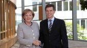 Rechts Ingo Wellenreuther, Stadtrat in Karlsruhe, Vorsitzender der CDU Karlsruhe, Mitglied des Deutschen Bundestages u.a.