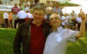Den weitesten Weg zum Sommerfest hatte Hans Maritni, links, aus Australien
