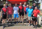 Teilnehmer von links: Alfred Herbst, Erwin Roos, Helmut Schmidt, Liebhard Matz, Hans Herbst, Reinhardt Kaiser, Werner Gilde, Kurt Bieber, Helmuth Holz, Jürgen Götz-Späth