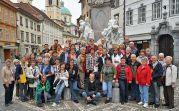 Gruppenbild in Ljubliana mit einem Teil der 94 Ausflügler