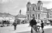 26. April 1937 Timisoara (Temeschburg): Marktplatz mit Dom