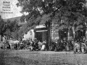 Das Warenhaus der Familie Tenner, der erste Auftrag des Baumeisters Mathias Wolf, Vater des Architekten Michael Wolf, in Billed.
