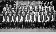Gruppenfoto der Billeder Kirchweihbuben 1940